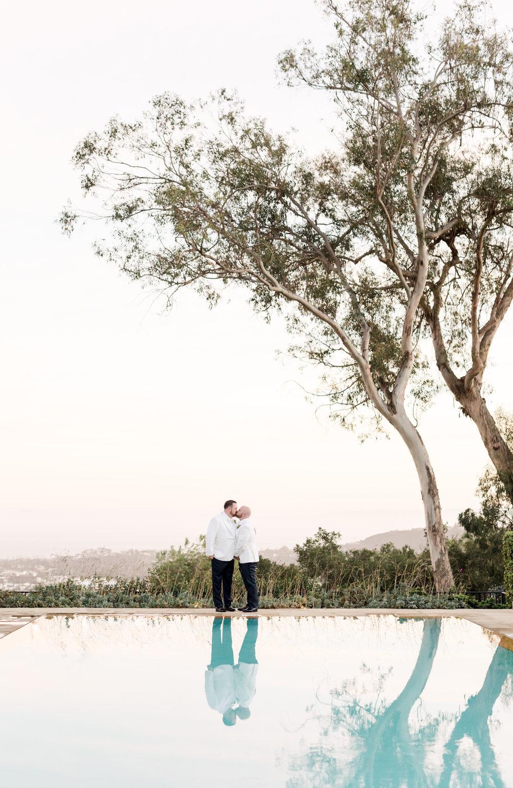 William and Andrew's wedding day at Belmond EL Encanto Santa Barbara, CA Gray and green wedding