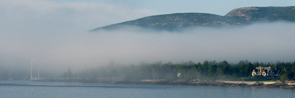 misty morning in New england Bar Harbor, Maine