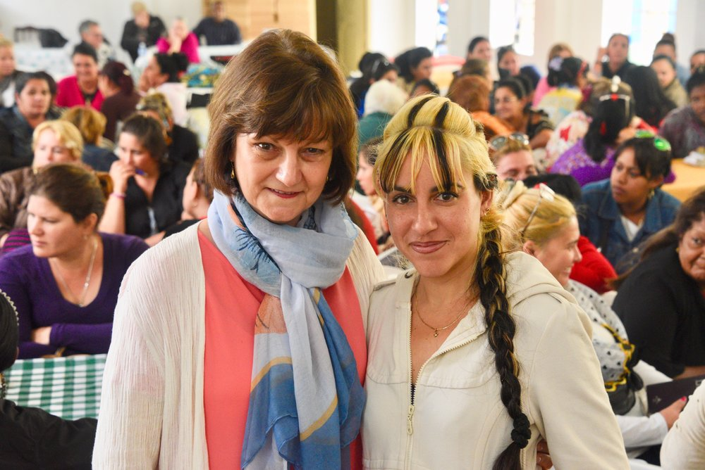 Cathy taught a women's conference as a part of the cuban pastors' conference...great response! here she is with her translator.