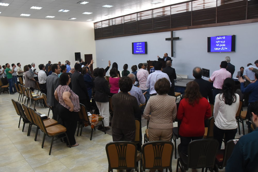 amman, jordan, april 2015 chapel at jordan evangelical theological seminary during the conference at which the book made its first arabic appearance!