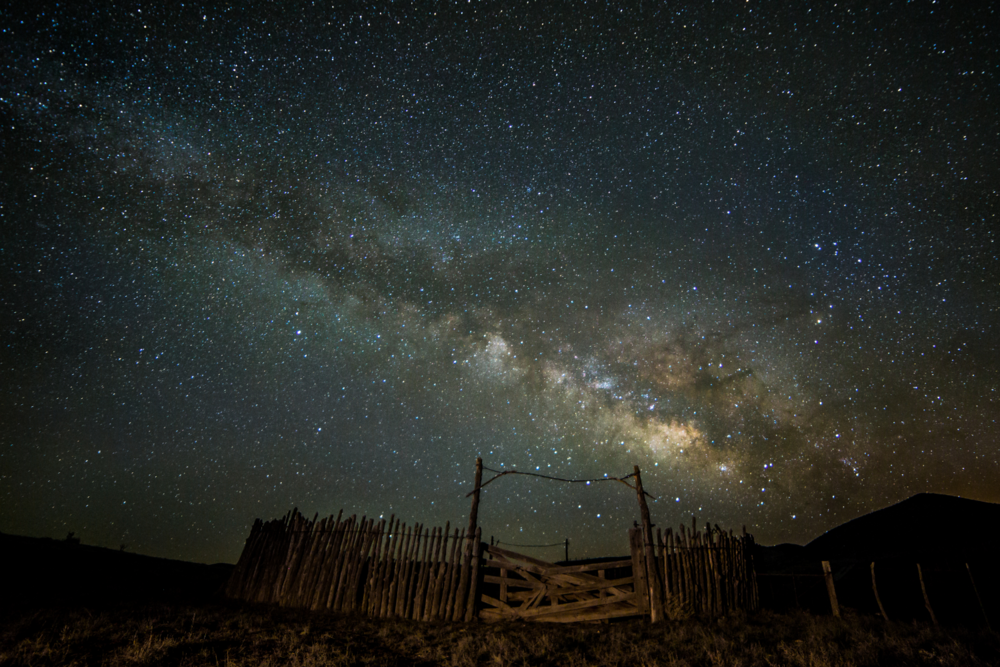 Milky Way over a ranch in Northern Arizona