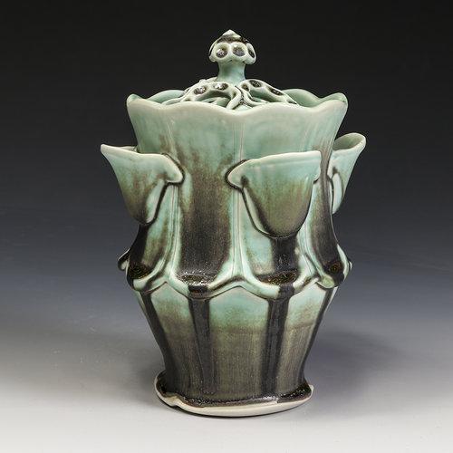 Flower Vase With Lid Lms002 In Tandem Gallery