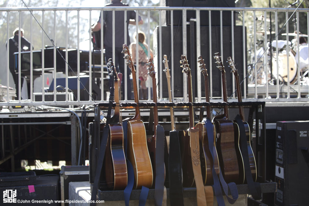 Backstage guitars, Hardly Strictly Bluegrass Festival