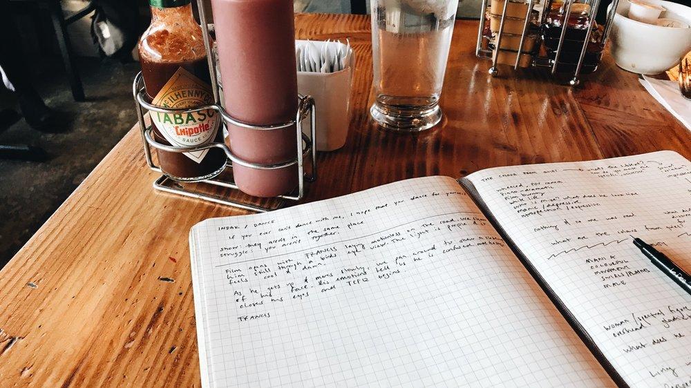 Freedom looks like breakfast & writing