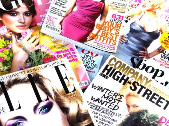 Magazine covers to get you beach body ready. Nothing about relationships though. (Image via pinterest)