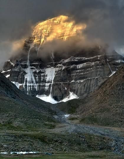 It's all going down on Mt. Kailash in Tibet (via  Pinterest )