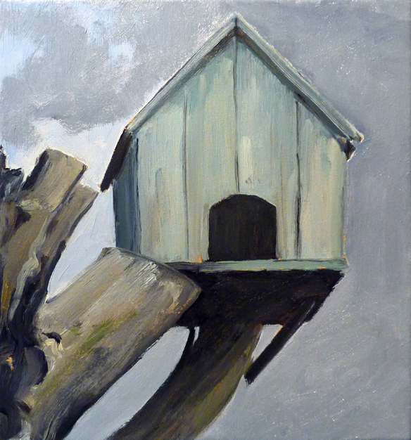Shelter,  2014 Oil on canvas 30 x 28 cm