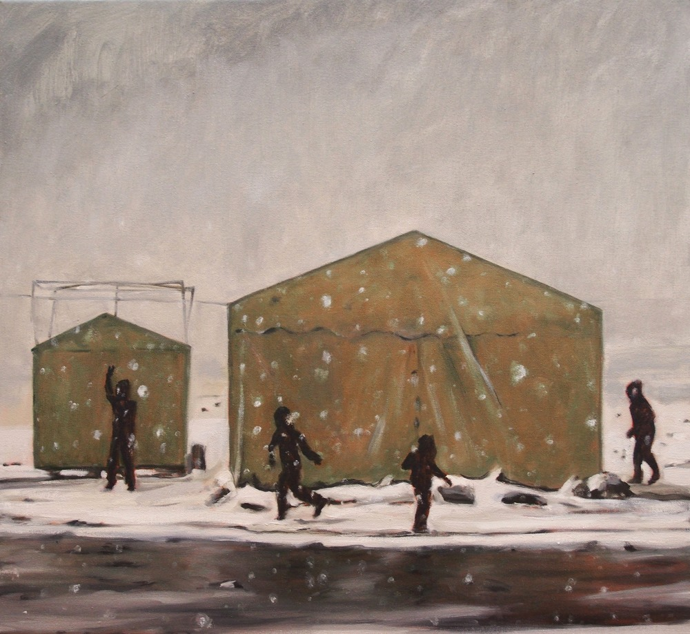 The Play,  2014 Oil on canvas 51 x 51 cm