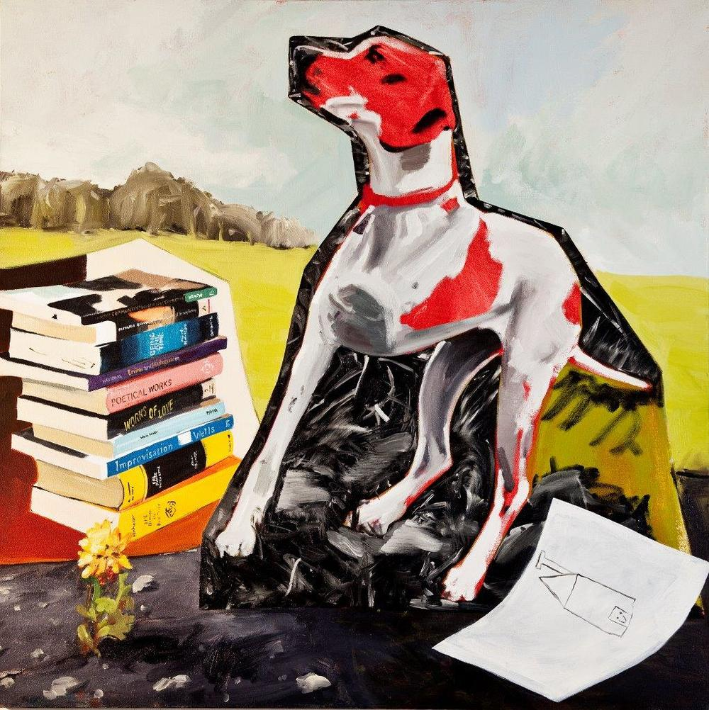 Optimism , 2010 Acrylic and oil on canvas 85 x 85 cm