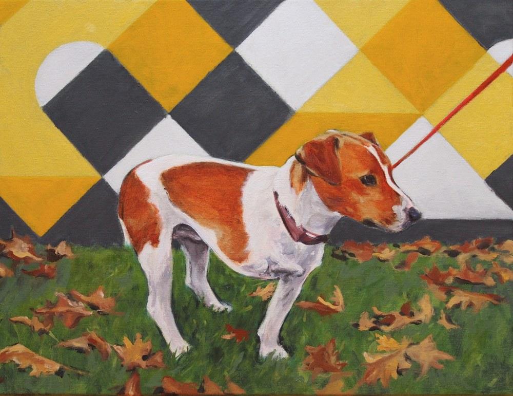 A Short Leash,  2014 Oil on canvas 51 x 66 cm