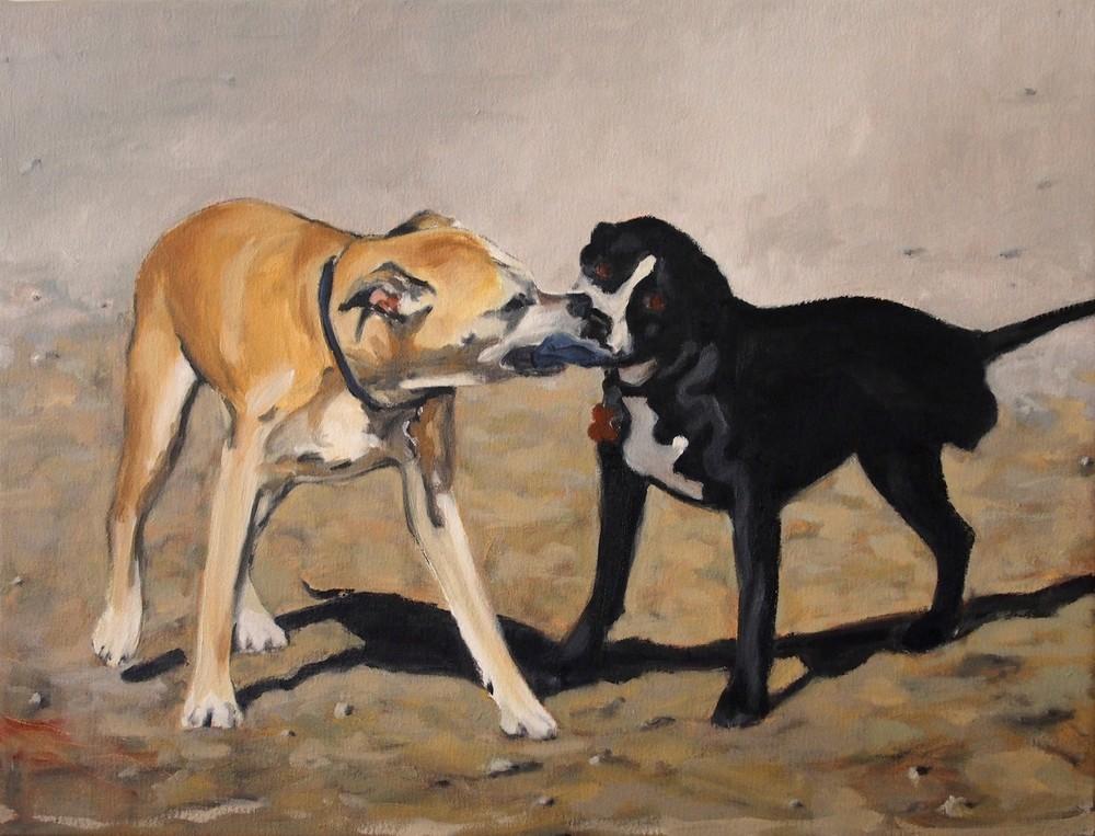 Struggle,  2014 Oil on canvas 51 x 66 cm