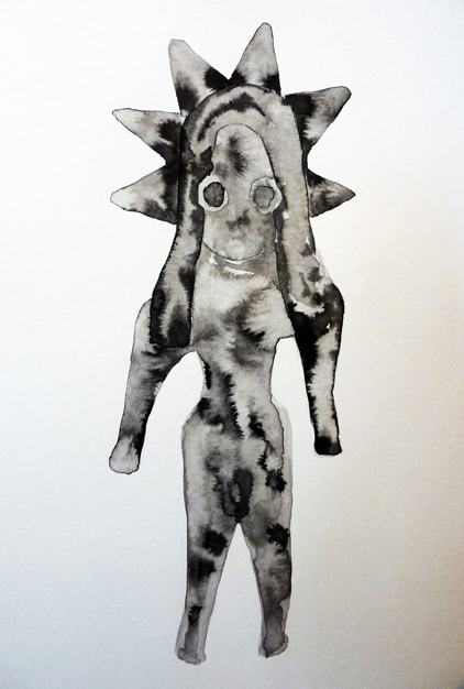 As it was,  2014 Ink on card - part of a group of 27 drawings 30 x 21 cm
