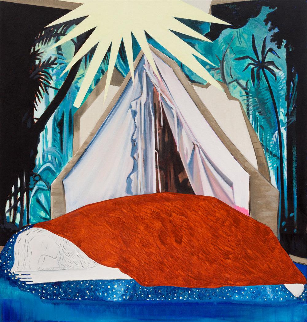 Sleeper, 2017 Acrylic and oil on canvas 112.5 x 107 cm