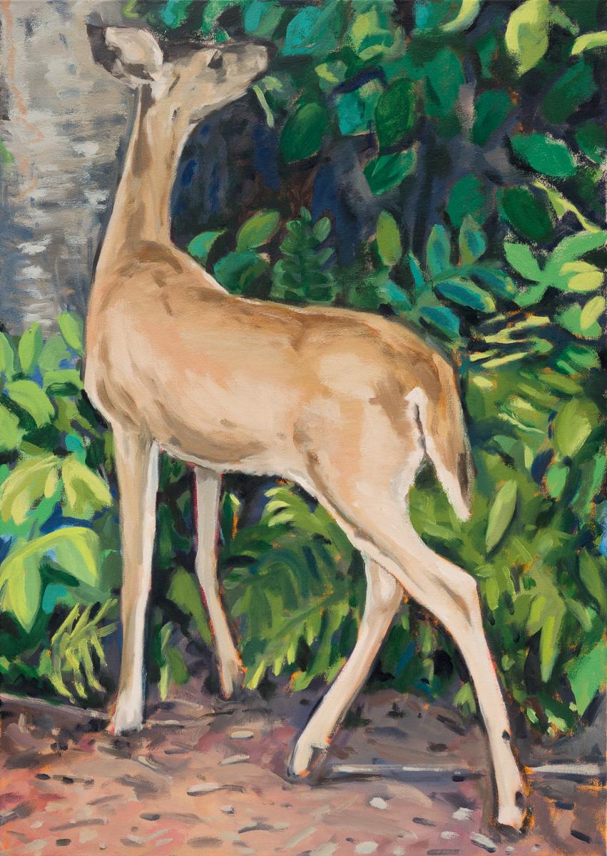 The deer, 2016 Oil on canvas 86 x 61 cm
