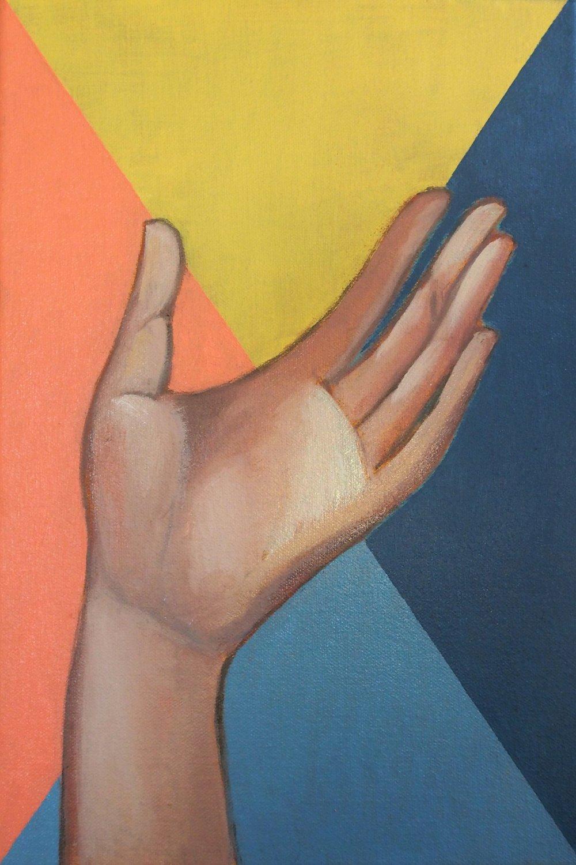 Gesture 2, 2017 Oil on canvas 21 c 31 cm