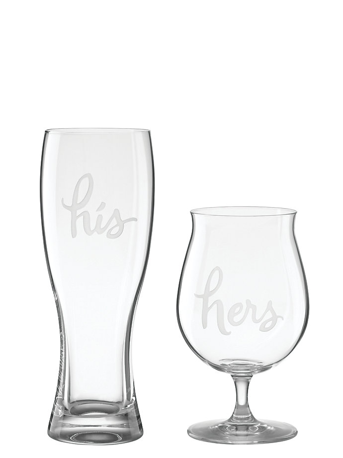 Two of a Kind His and Hers Beer Glasses