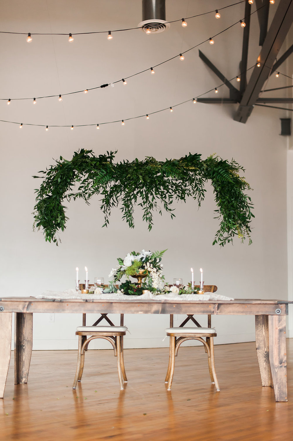Credits: Wedding Planning/Design:  @VSIEvents , Photography: @laura.cook.photo, Venue: @btownpointe, Dress/Jewelry/Hair Accessories: @couturecloset_ky, Chairs and Farm Table: @southernclassicrentals, Decor Rentals and Florals: #milleniumeventsky @thecateringcompany, Hair and Makeup: @thairapy_by_alexis @beautypatrolmua, Flatware Rentals: @reliablerentalsky