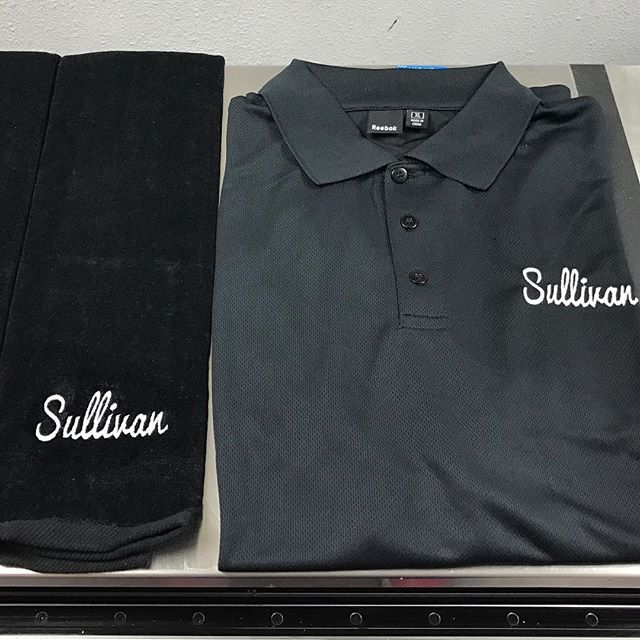 We offer embroidery too!! Check out this custom Polo and Golf Towel set.....get a quote from us at www.reliablecreatives.com