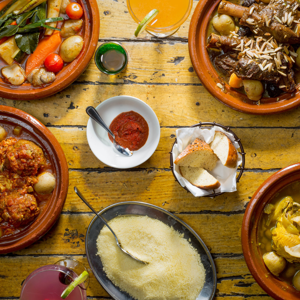Chicken, Lamb, Kefta and Vegetable Tagines