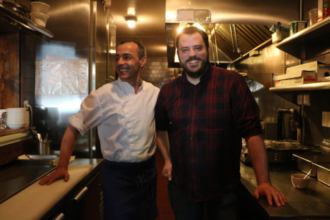Bar Omar owner Aaron Lee (right) and French-Algerian chef Pierre Rougey. © Melody Cha