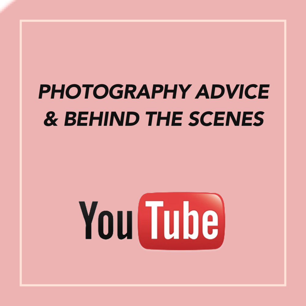 Follow us on youtube for photography tips and how to videos