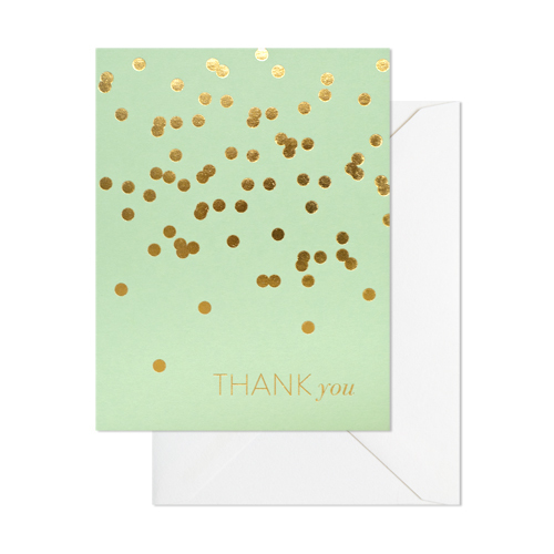 Mint Thank You Card