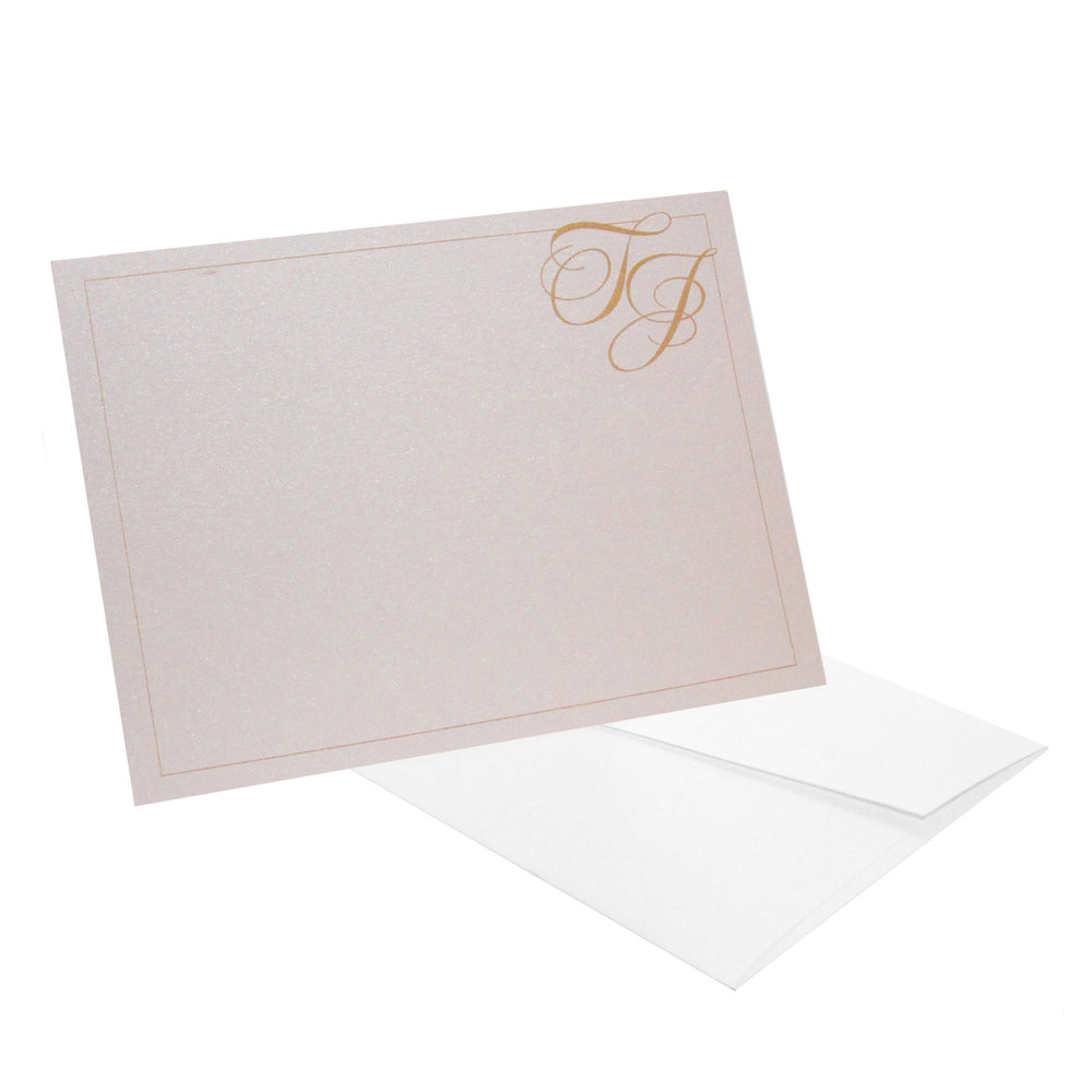 Corner Initials Personalized Stationery