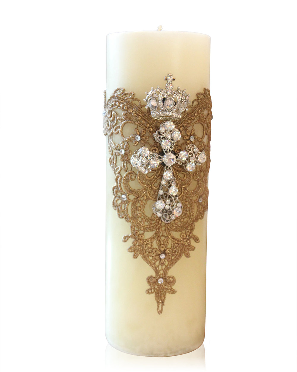 3. Cross Candle w/Lace