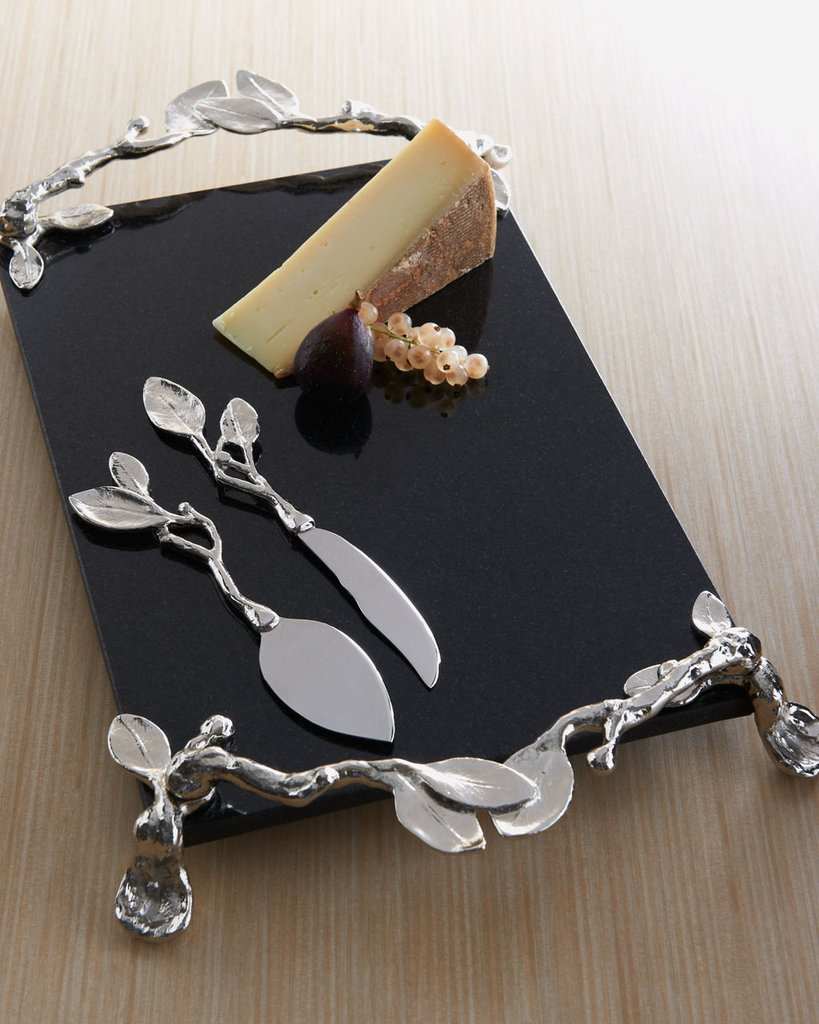 Michael Aram Sleepy Hollow Cheese Board & Knife Set