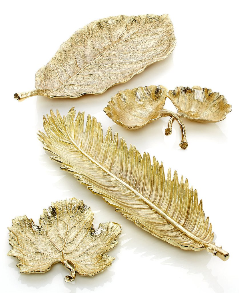 New Leaves Gold Platter