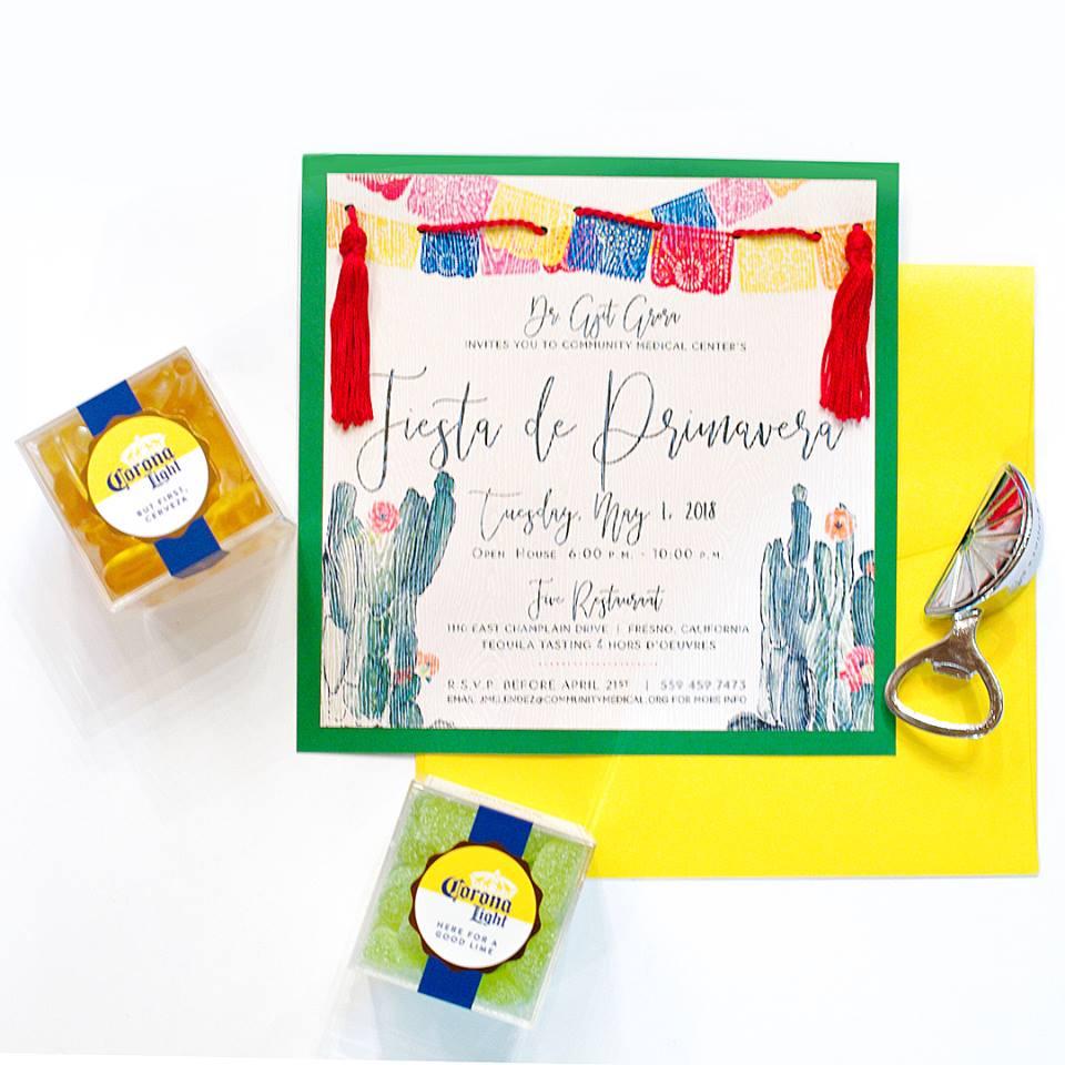 fiesta theme party custom invitations