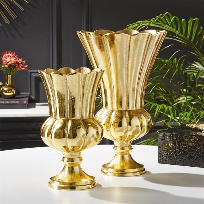 Gold Flower Vase