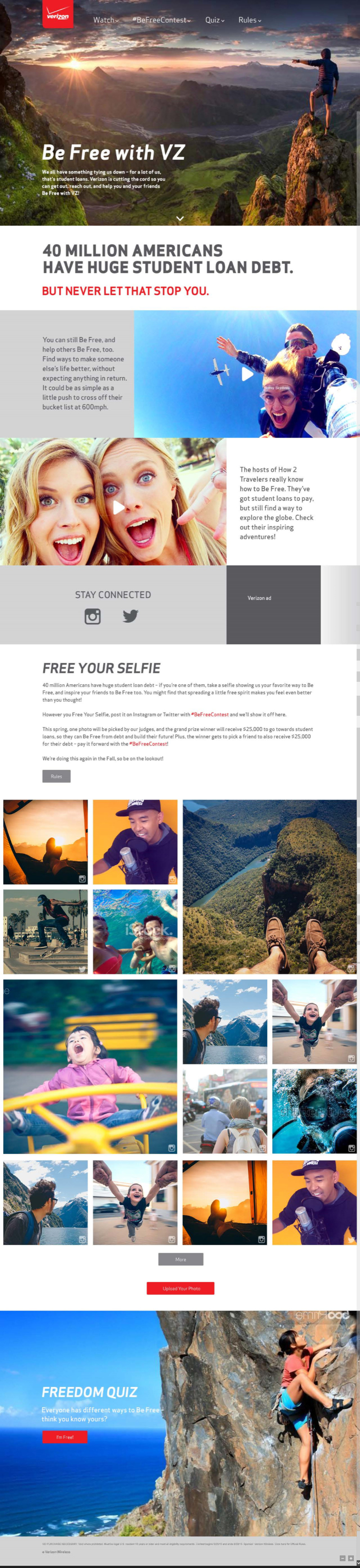 single page campaign microsite