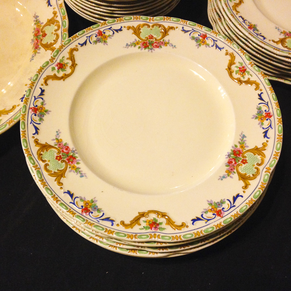 English dinnerware plates