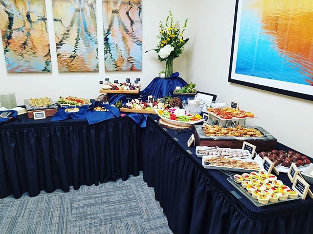 Quite a spread for Centier Bank this evening! Thanks for having us! #aberdeenmanorcatering