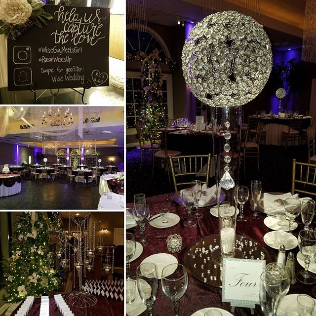 Lots of winter sparkle tonight! #wiseguymeetsgirl @aberdeenmanor