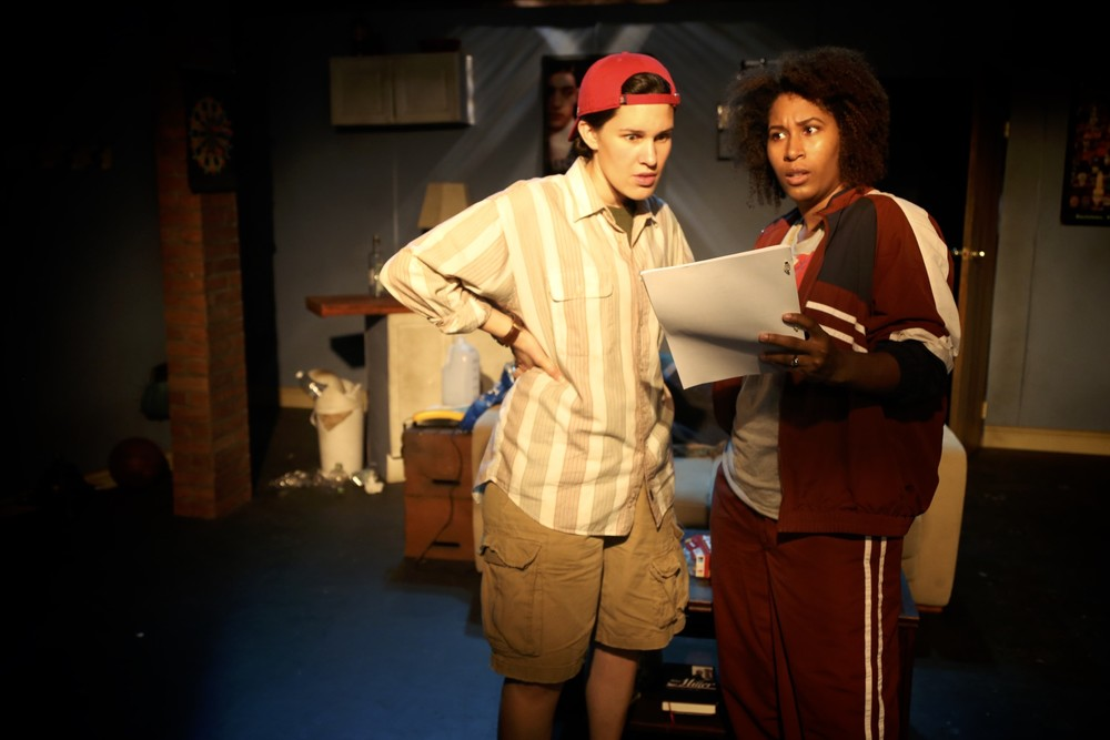 "Isabella Petrini as Matt and Celia Mandela as Ben in ""Matt & Ben"". Photo by Brenda Phillip"