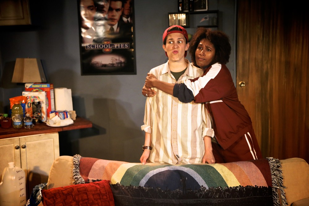 "Isabella Petrini as Matt and Celia Mandela as Ben in ""Matt & Ben"". Photo by Brenda Phillips"