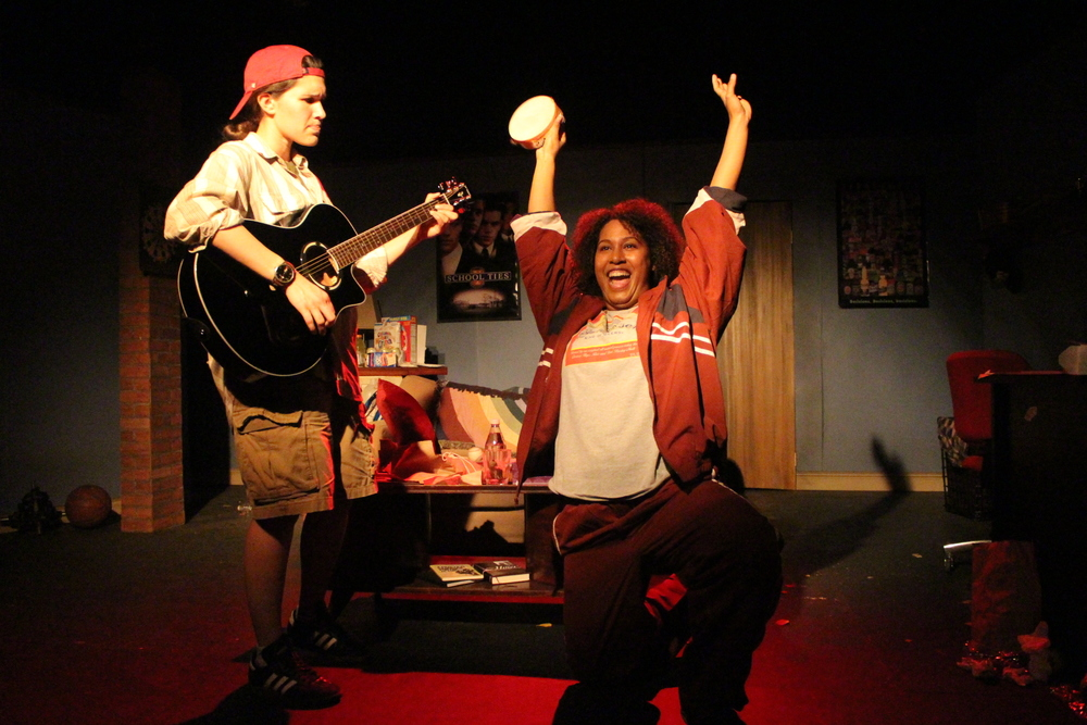 "Isabella Petrini as Matt and Celia Mandela as Ben in ""Matt & Ben"". Photo by Zoe Photenhauer"
