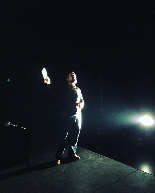 @itaierdal working his magic. Notre éclairagiste en pleine création #lighting #yvrtheatre #theatre #techweek