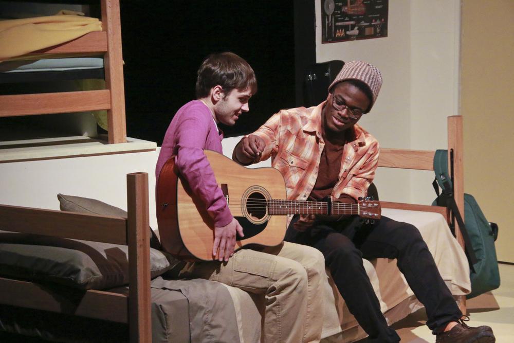 Sam teaches Luke guitar as their tenuous relationship blooms
