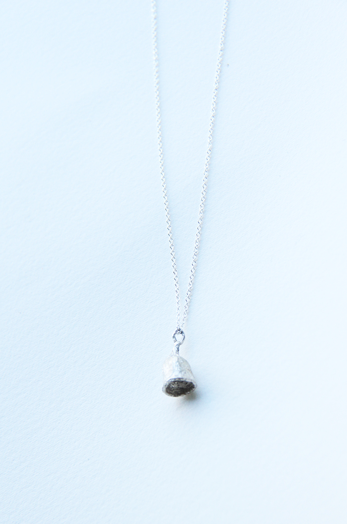 gumnut drop necklace_silver chain.jpg