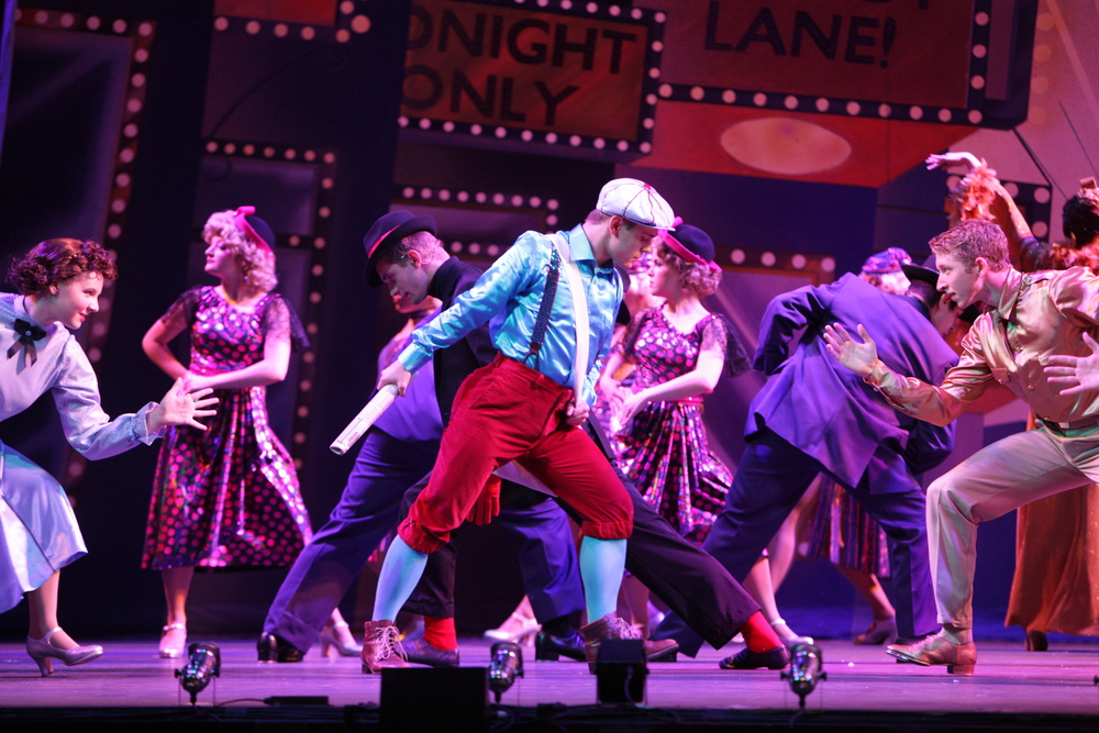 42nd Street  at Music Theatre Wichita. 2014. Christopher Clark Photography.