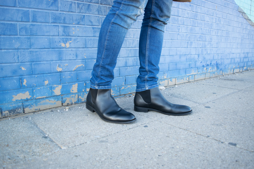 Mens streetstyle Calvin Klein Chelsea Boots