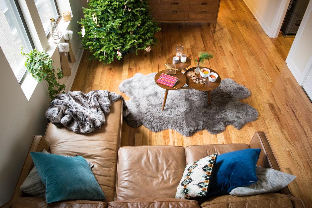 West Elm Christmas Living Room