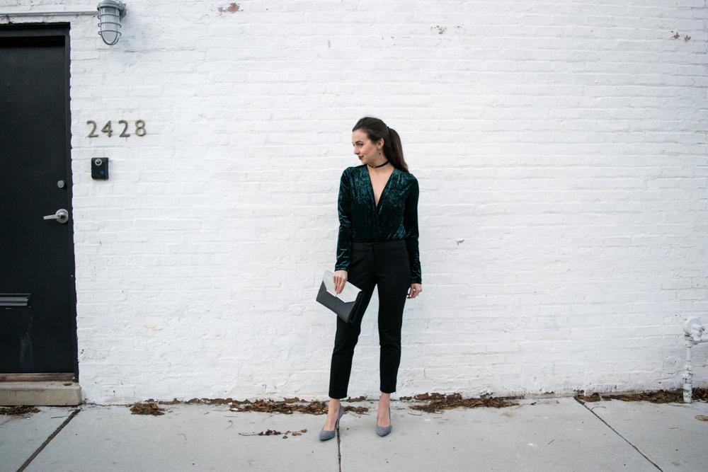 Zara-Plunge-Neck-Green-Velvet