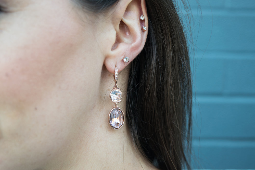 Givenchy:  Rose Gold Earrings