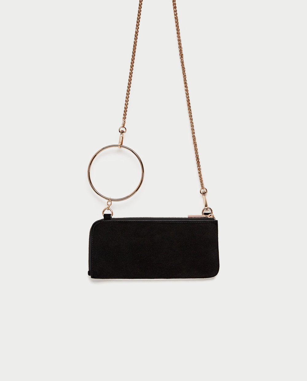 zara Splite suede Crossbody wallet - The perfect, sleek date night look!