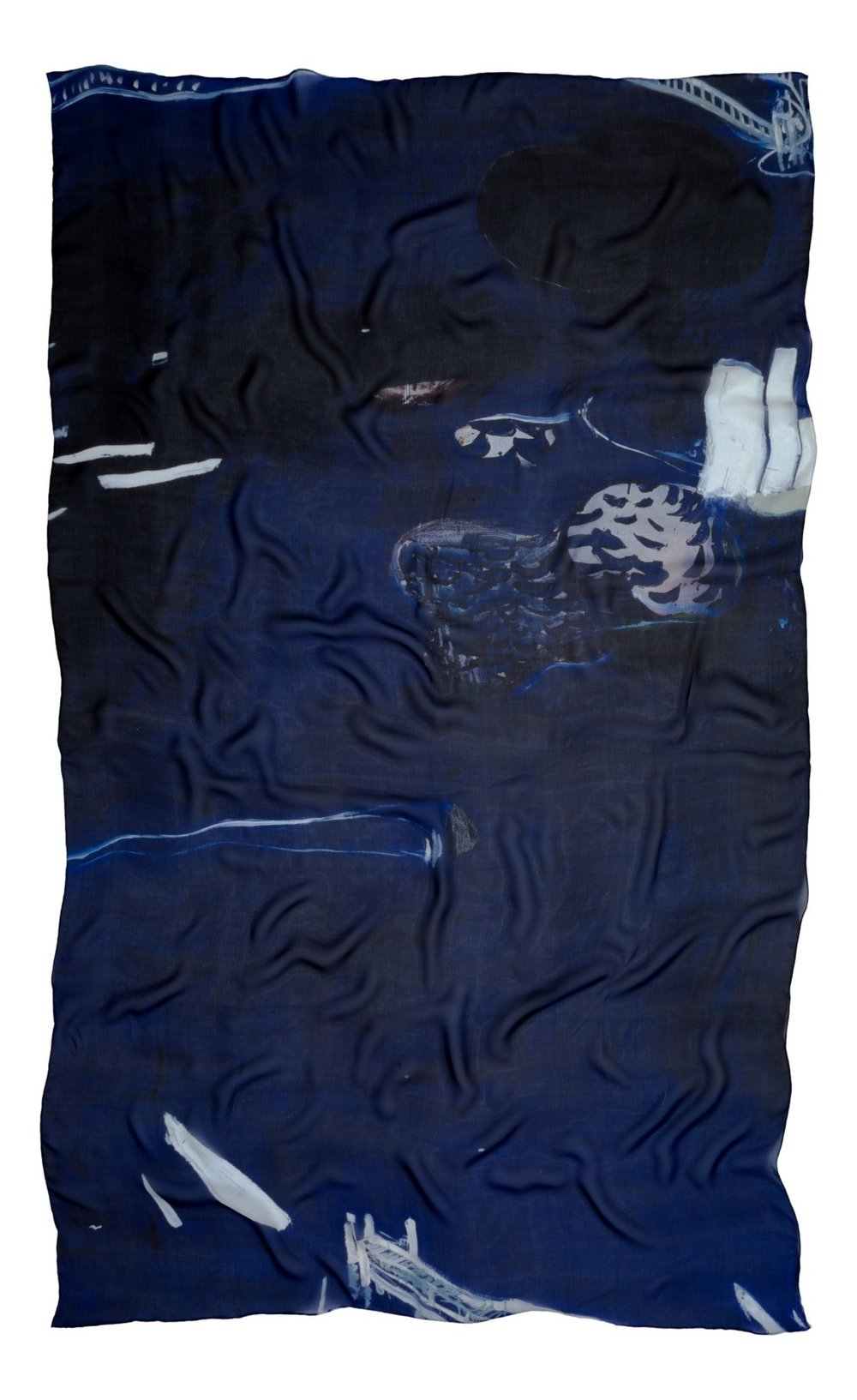 Brett Whiteley silk chiffon scarf by SKARFE for the NGV.