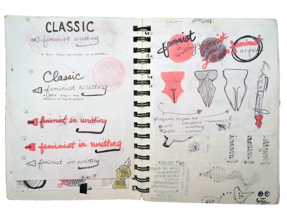 Visual Language Sketches for Feminist Writing Project